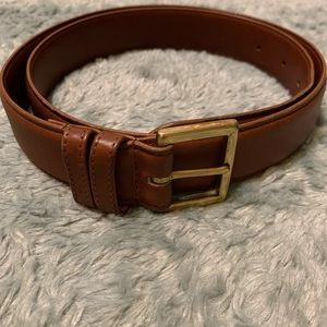 Coach Brown Gold Leather Belt British Tan